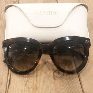 VALENTINO Rockstud Sunglasses Tortoise Shell
